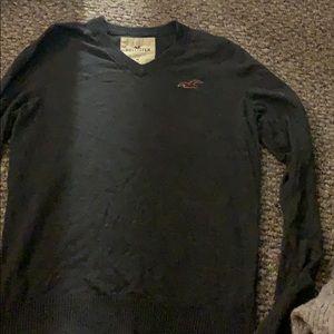 Grey Hollister sweater. Medium size v neck sweater